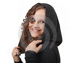 Woman In A Hood. Royalty Free Stock Photography - Image: 15854117