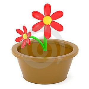 Cartoon Flowers Royalty Free Stock Image - Image: 15854746