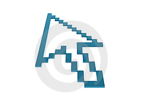 3d Pixel Business Graph Arrow Blue Royalty Free Stock Photo - Image: 15858225