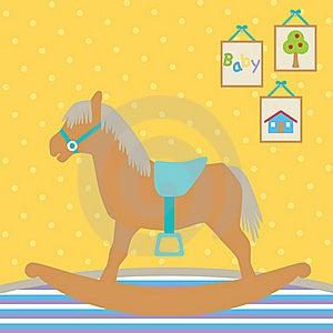 Baby Rocking Horse Royalty Free Stock Photo - Image: 15859335