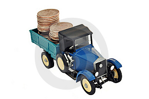 Money In The Truck Stock Photos - Image: 15862403