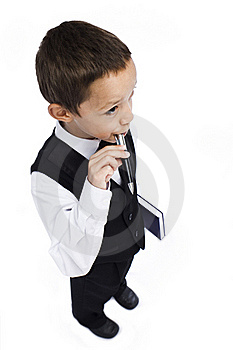 Boy With A Pen Stock Photography - Image: 15862662