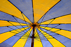 Beach Umbrella Detail Royalty Free Stock Images - Image: 15864089