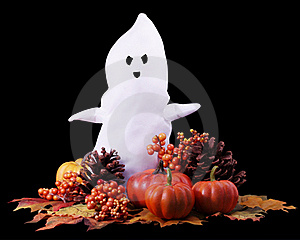 Fall Halloween Ghost Stock Image - Image: 15864321