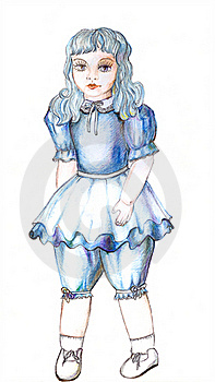 Doll Depicting Fairy With Turquoise Hair Stock Image - Image: 15864631