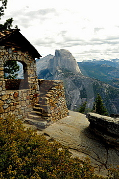 Half Dome And Geology Hut. Royalty Free Stock Images - Image: 15866189