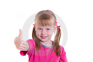 Girl Showing The All OK Sign Stock Photos - Image: 15866493