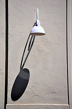 Lamp With Long Shadow Stock Photo - Image: 15867530