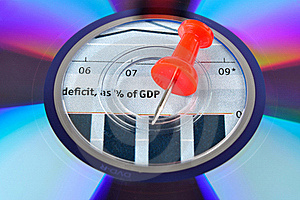 Compact Disk, Drawing Pin And Chart Stock Images - Image: 15867904