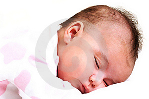 Sweet Baby Girl Peaceful And Asleep Royalty Free Stock Photography - Image: 15868987