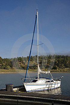 Sailboat At The Lakeside Marina Royalty Free Stock Photo - Image: 15872995