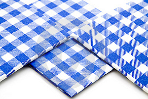 Blue Whiteness Table Cloth Royalty Free Stock Images - Image: 15875329