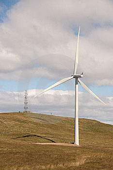 Wind Turbine And Communications Transmitter Royalty Free Stock Photos - Image: 15875418