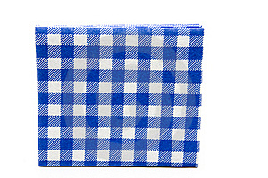 Blue Whiteness Table Cloth Royalty Free Stock Photo - Image: 15875435
