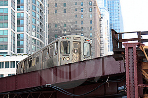 Elevated Commuter Train In The City Royalty Free Stock Images - Image: 15877489