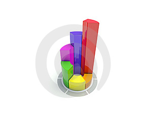 Color Circular Diagram On White Royalty Free Stock Image - Image: 15877516