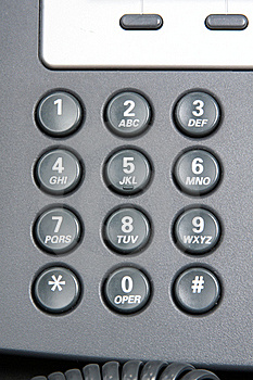 Numeric Keypad Of A Telephone. Stock Photo - Image: 15877540