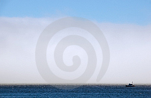 Fog Bank And Commercial Fishing Boat Stock Photos - Image: 15877773