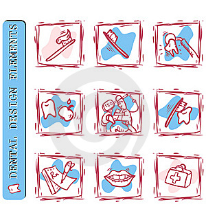 Dentist's Office Icons Set Royalty Free Stock Photography - Image: 15877927