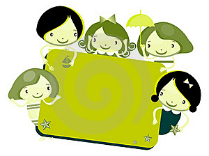 Cute Cartoon Kids Frame Royalty Free Stock Images - Image: 15878229