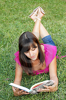 Young Woman Reading A Book Royalty Free Stock Photo - Image: 15878625