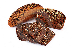 Bread With Sesame Seeds Royalty Free Stock Images - Image: 15879509
