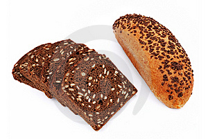 Bread With Sesame Seeds Royalty Free Stock Photo - Image: 15879535