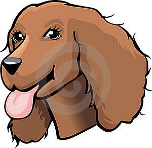 Color Cocker Spaniel Cartoon Royalty Free Stock Images - Image: 15879719
