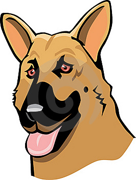 German Shepherd Cartoon Stock Image - Image: 15879761
