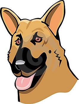 动画片德国牧羊犬 库存图片 - 图片: 15879761