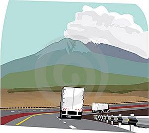 Two Trailer Trucks Royalty Free Stock Photo - Image: 15879895