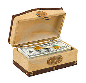 Money And Key In Box Stock Photography - Image: 15880342
