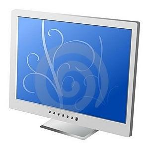 Flat Lcd Monitor Stock Image - Image: 15880981