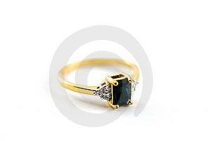 Gold Black Diamond Ring Royalty Free Stock Image - Image: 15881626