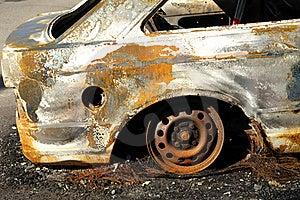 Burnt Car Royalty Free Stock Photos - Image: 15883298