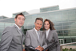 Business Team Standing Outside Royalty Free Stock Photo - Image: 15883805