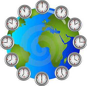Earch Clocks Circle Hourly Stock Images - Image: 15886844