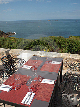Table Setting At Beach Restaurant Stock Photos - Image: 15888653