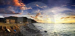 Sunset Over Rocky Coast Stock Photography - Image: 15890592