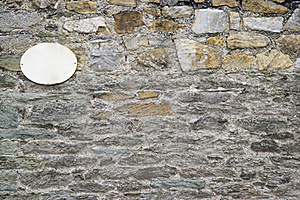 Wall With Sign Stock Photography - Image: 15891632