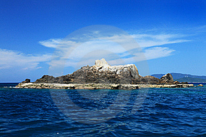 A Rocky Island In The Sea Royalty Free Stock Images - Image: 15892039