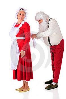 Santa Helping At Home Royalty Free Stock Photography - Image: 15894687