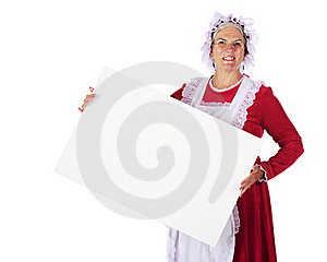 Mrs. Santa Sign Stock Photos - Image: 15894693