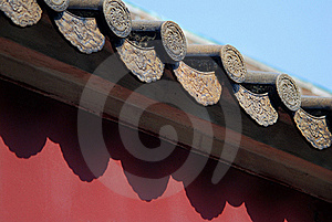 Tile On The Red Wall Stock Photos - Image: 15895003