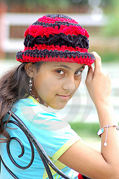 Girl With Cap Stock Images - Image: 15895054