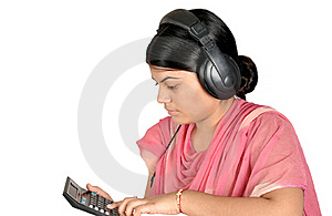 Girl With Headphone Stock Images - Image: 15895084