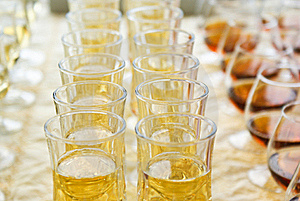 Wine And Cognac In Wineglass Stock Images - Image: 15895384