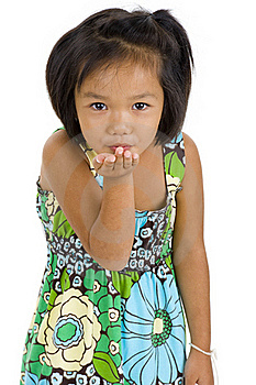 Little Girl Blowing A Kiss Stock Photos - Image: 15896573