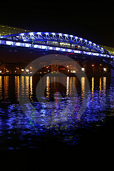 The Foot Bridge Through The Moscow - River Royalty Free Stock Photo - Image: 1591745