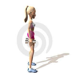 健身女孩: 肩膀 免版税库存照片 - 图片: 1595345